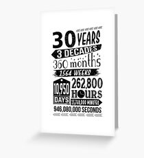 Funny 30th Birthday 30 Year Old Sign Gag Gift Greeting Card