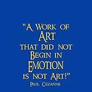Cezanne's Emotional Art by Kestrelle