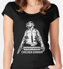 PUBG - Winner winner chicken dinner Women's Fitted Scoop T-Shirt