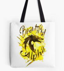 Beautiful Dragon Alpha Yellow Tote Bag