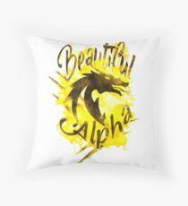 Beautiful Dragon Alpha Yellow Throw Pillow