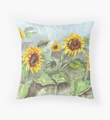Sunshine in the rain Throw Pillow