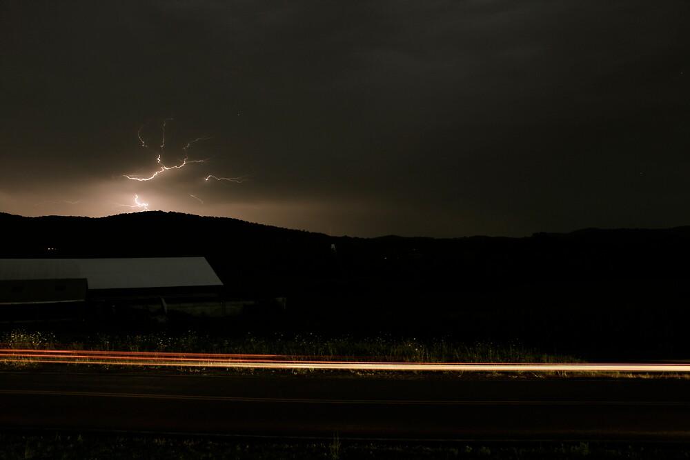 streak of lights by EdMc