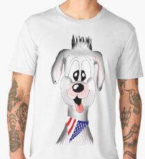 Cute Puppy. Cartoon Dog Lovers Men's Premium T-Shirt