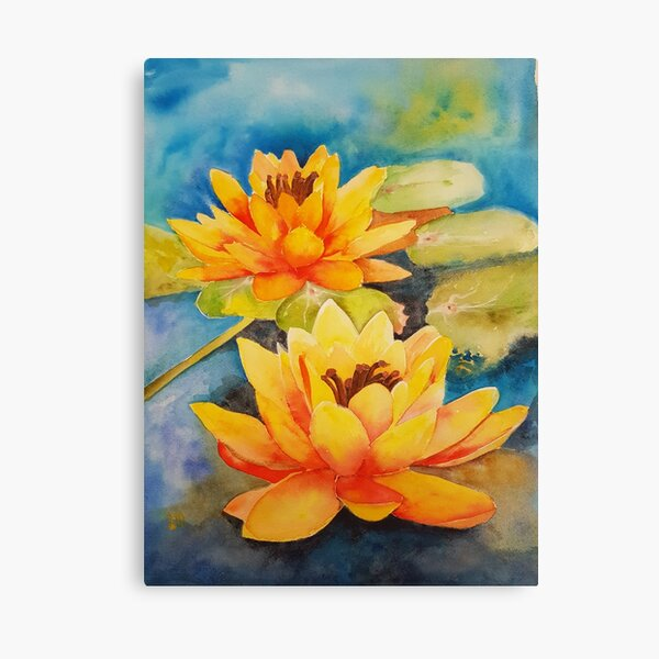 Waterlilies on the Warm side Canvas Print