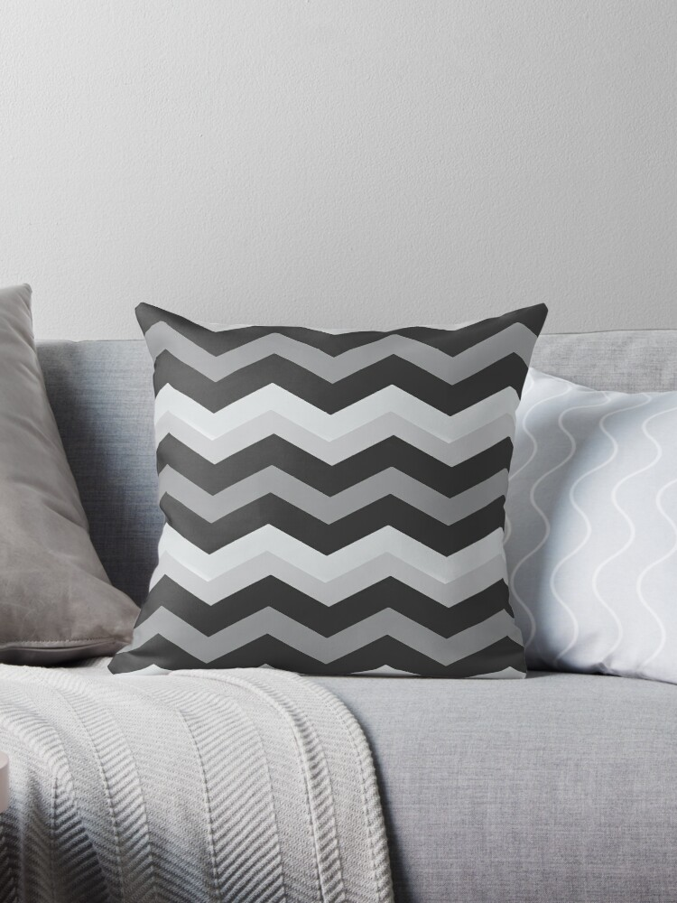 Beautiful Cushions/Chevron/ Grey and White by ozcushionstoo