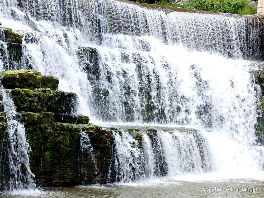 Rushing Waterfall by Stephen Almendinger