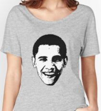 Barack Obama Black and White  Women's Relaxed Fit T-Shirt