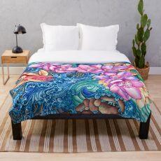 Orchid Splash Throw Blanket