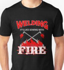 Welding Fire T shirt  Unisex T-Shirt