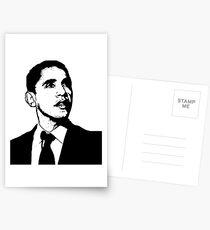 Barack Obama Black and White Postcards