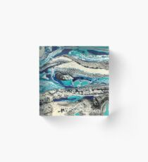 Water Bubbles Abstract Acrylic Block