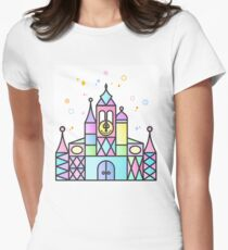 It's a Small World After All Colourful Castle Women's Fitted T-Shirt
