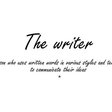 the writer - notebook for writing by SnfDesign