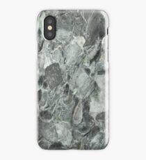 Grey marbled endpaper iPhone Case/Skin