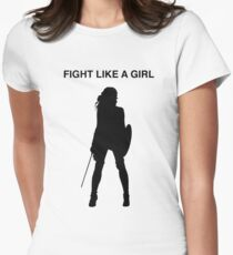 Fight like a girl Women's Fitted T-Shirt