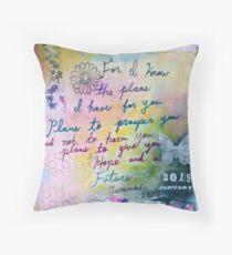 Plans to Prosper You  Throw Pillow