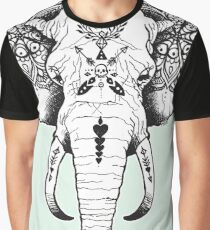 Elephant Tattooed Graphic T-Shirt