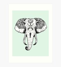 Elephant Tattooed Art Print