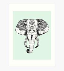 Elefant tätowiert Kunstdruck