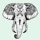 «Elefante tatuado» de PaperTigressArt