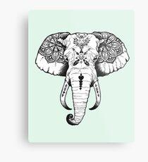 Elephant Tattooed Metal Print