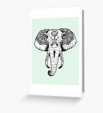 Elephant Tattooed Greeting Card