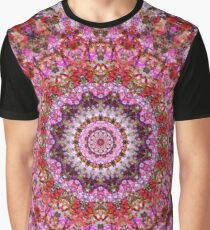 Red and Purple Floral Mandala Graphic T-Shirt