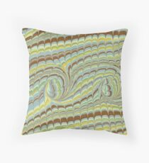 Light striped pattern marbled endpaper Throw Pillow