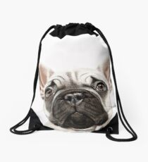 Frenchie Drawstring Bag