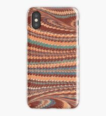 Light brown and blue toned marble endpaper iPhone Case/Skin