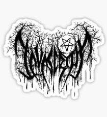 Javascript, Developer's Black Metal Sticker