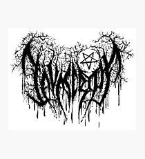 Javascript, Developer's Black Metal Photographic Print