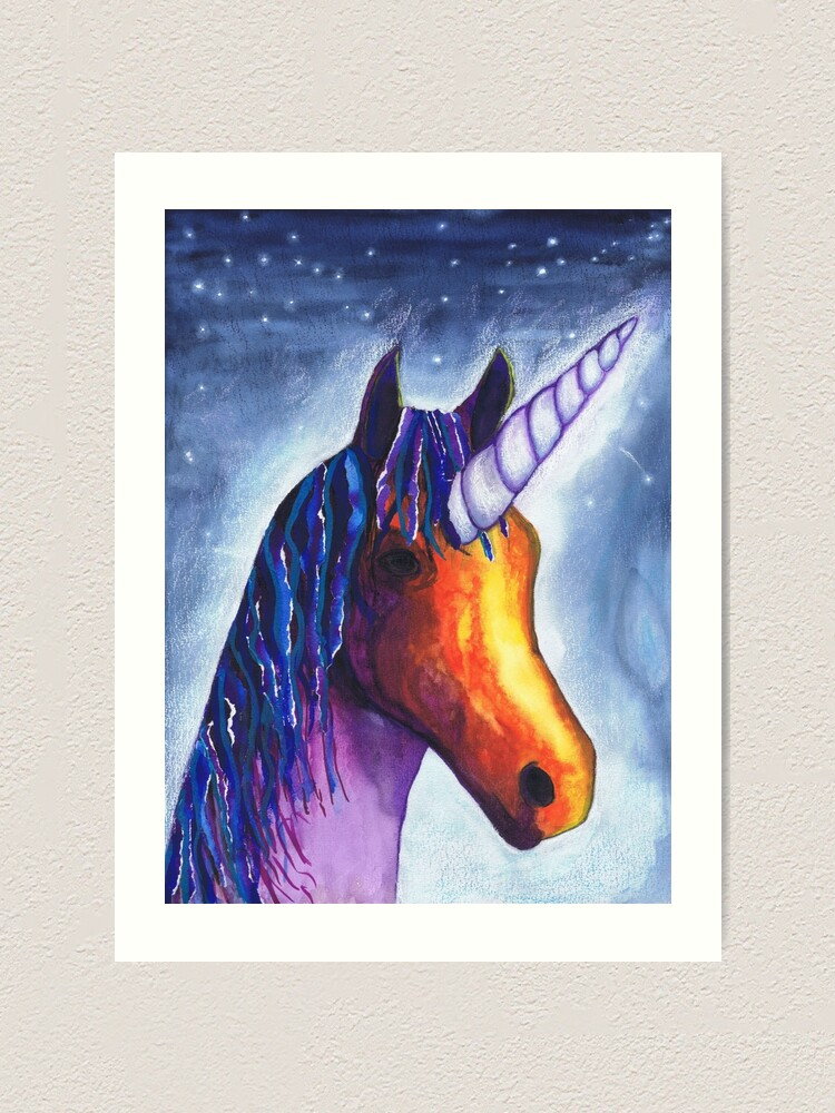 Alternate view of Unicorn Art Print