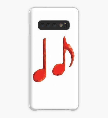 Polygonale Musiknoten Hülle & Klebefolie für Samsung Galaxy