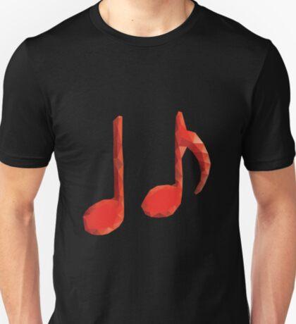 Polygonale Musiknoten T-Shirt