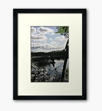 A barbed Wire Sky Framed Print