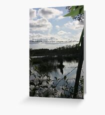 A barbed Wire Sky Greeting Card
