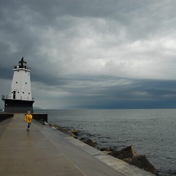 Ludington, Michigan lighthouse before the storm by sublime