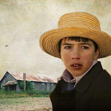 Amish Boy Portrait Poster by AJ-artography
