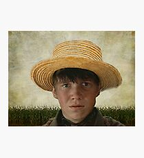 Amish Boy Portrait Poster Photographic Print