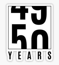 50 years Sticker