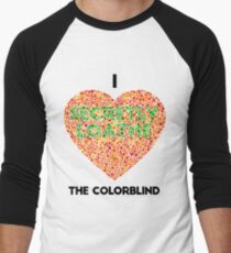 Ishihara Colorblind Test: I Heart the Colorblind (US spelling) T-Shirt