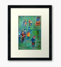 Walking in the Flood Framed Print