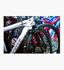 Bicycle shapes Photographic Print
