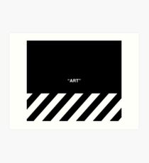 OFF-WHITE Inspired Simple Wording Illustration  Art Print