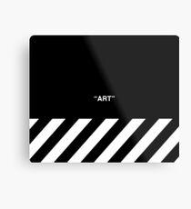 OFF-WHITE Inspired Simple Wording Illustration  Metal Print