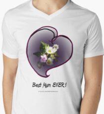 wildflower, Best Mum EVER! heart  Men's V-Neck T-Shirt