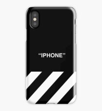 OFF-WHITE Inspired Simple Wording Illustration  iPhone Case