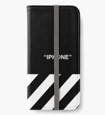 OFF-WHITE Inspired Simple Wording Illustration  iPhone Wallet/Case/Skin
